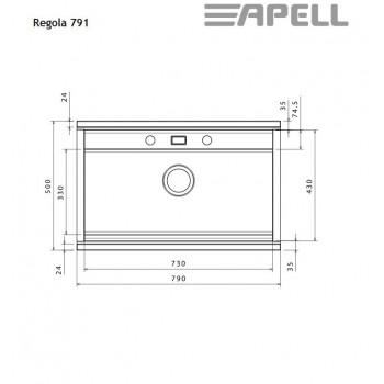 Apell Regola RE791 79x51 cm Inox Ένθετος Νεροχύτης  Με Συρόμενα Κρύσταλλα