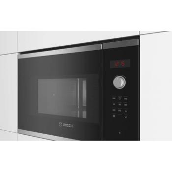 Bosch BFL553MS0 Μαύρος/Inox Εντοιχιζόμενος Φούρνος Μικροκυμάτων 25 Lt