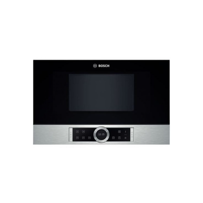 Bosch BFL634GS1 Μαύρος/Inox Εντοιχιζόμενος Φούρνος Μικροκυμάτων 21 Lt