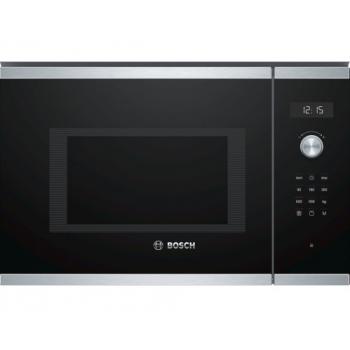 Bosch BEL554MS0 Μαύρος/Inox Εντοιχιζόμενος Φούρνος Μικροκυμάτων Grill 25 Lt