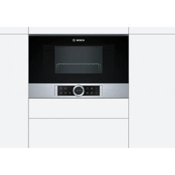 Bosch BEL634GS1 Μαύρος/Inox Εντοιχιζόμενος Φούρνος Μικροκυμάτων Grill 21 Lt