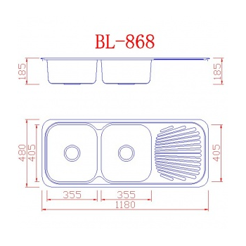EcoSink 33150045 Ανοξείδωτος Ένθετος Νεροχύτης 118 cm