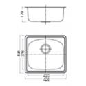 Geman 33150070 Ανοξείδωτος Ένθετος Νεροχύτης 49,5 cm
