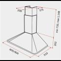 Teka DOS 60.1 Anthracite Απορροφητήρας Καμινάδα Τοίχου Ανθρακί 60 cm