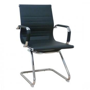Καθίσματα Γραφείου BS8250 Μαύρο PU (Σ2) Αναμονής Πολυθρόνα