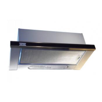 Anteo 31100108 Inox-Μαύρο Γυαλί Συρόμενος Απορροφητήρας Με 2 Μοτέρ 60 cm