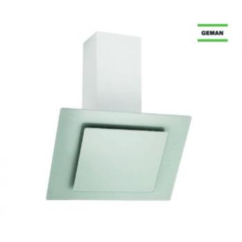 Geman 31100112 Λευκό Γυαλί Καμινάδα Τοίχου Με 1 Μοτέρ 60 cm