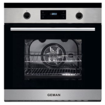 Geman Set 31150017 Inox Εντοιχιζόμενoς Φούρνος + 31150018 Μαύρη Κεραμική Εστία