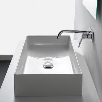 Scarabeo Teorema 60 5101 Λευκός Πορσελάνινος Νιπτήρας Μπάνιου Επιτραπέζιος 60x40cm
