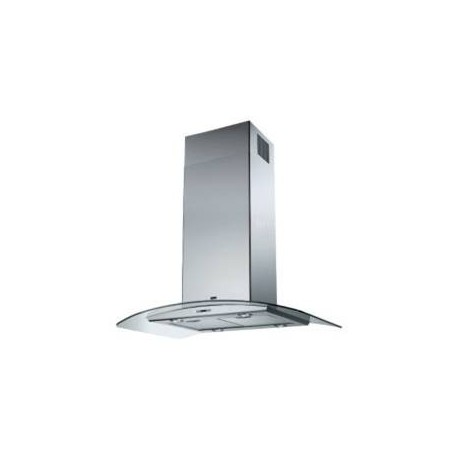New Emotion Glass 90 Island Inox Απορροφητήρας 90cm