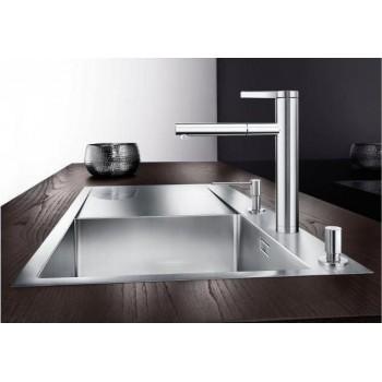 Blanco Linee-S Chrome Μπαταρία Κουζίνας με Περιστρεφόμενο Ρουξούνι και Αποσπώμενο Ντους