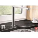 Blanco Eloscope F-II Chrome Μπαταρία Κουζίνας Βυθιζόμενη με Περιστρεφόμενο Ρουξούνι