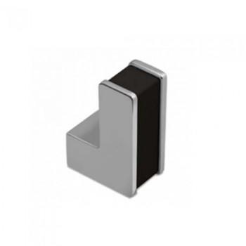Convex 1047 Χρώμιο/Μαύρο Πόμολο Επίπλου