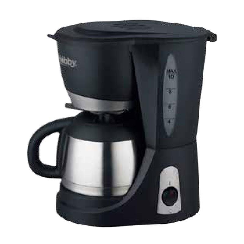 Hobby CM-09 Μαύρη/Inox Καφετιέρα