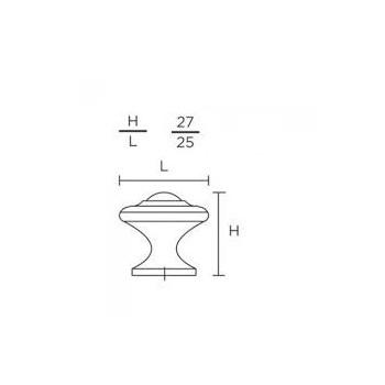 Convex 395-27 Ματ Αντικέ Πόμολο Επίπλου