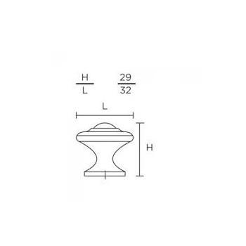 Convex 395-32 Ματ Όρο Πόμολο Επίπλου