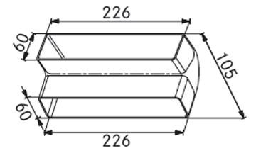 Franke Γωνία - Κατακόρυφη πλακέ AVE R/R 90