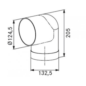 Franke Γωνία κυκλική AEC 90/125