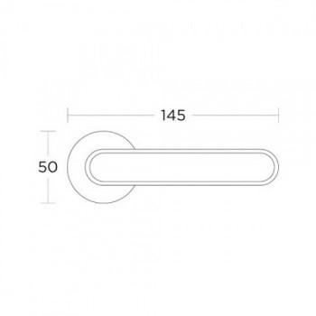 Convex 2195 Χαλκός/Λευκό Πόμολο Πόρτας - Ροζέτα