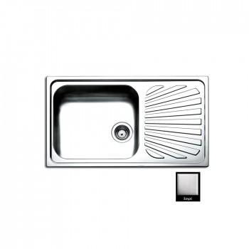 Apell Venezia 8310 Ανοξείδωτος Σαγρέ Ένθετος Νεροχύτης Αντιστρεφόμενος Με 1 Γούρνα και Ποδιά 86x50 cm