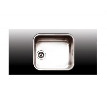 Apell 8445 Ανοξείδωτος Λείος Υποκαθήμενος Νεροχύτης Με 1 Γούρνα 47x42 cm