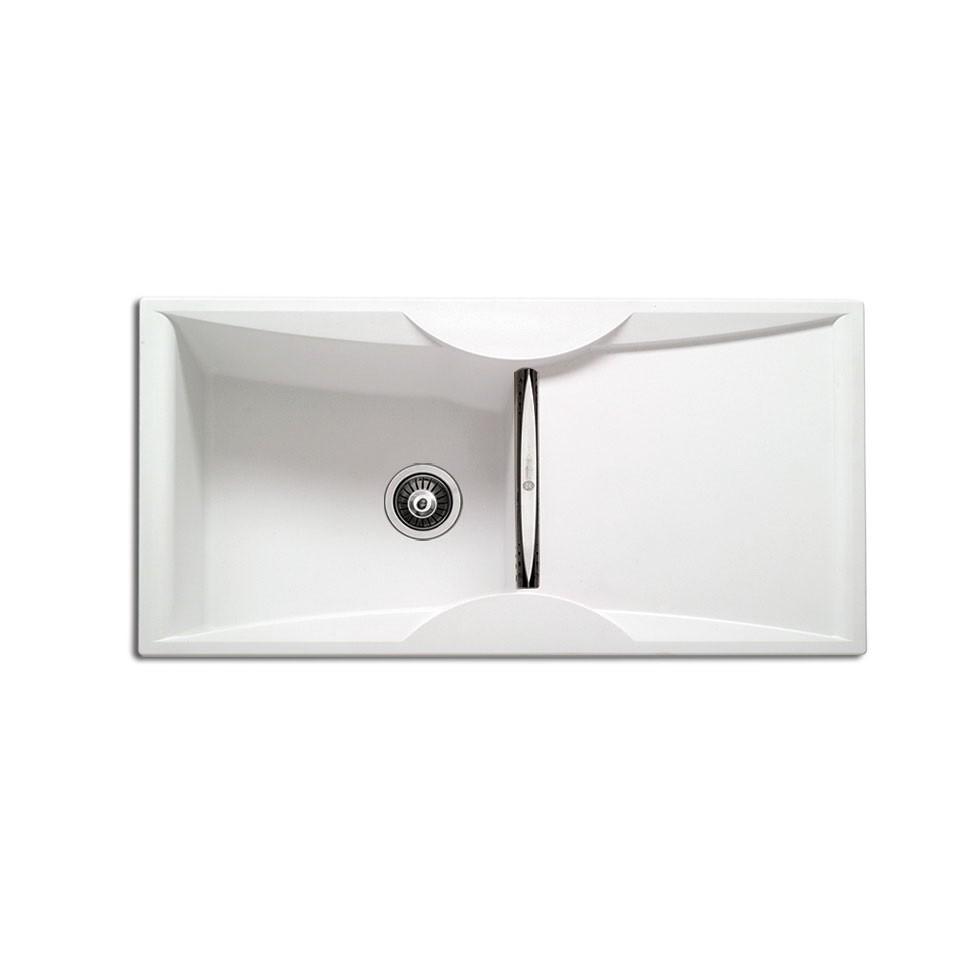 Carron ZX 3100 100x51,5cm White Λευκός Ένθετος Γρανιτένιος Νεροχύτης Με 1 Γούρνα