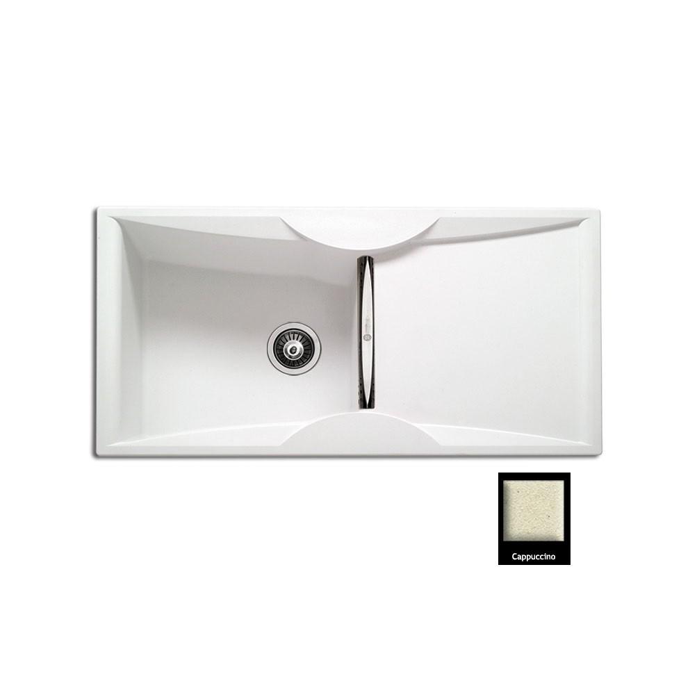 Carron ZX 3100 100x51,5cm Cappuccino Ένθετος Γρανιτένιος Νεροχύτης Με 1 Γούρνα