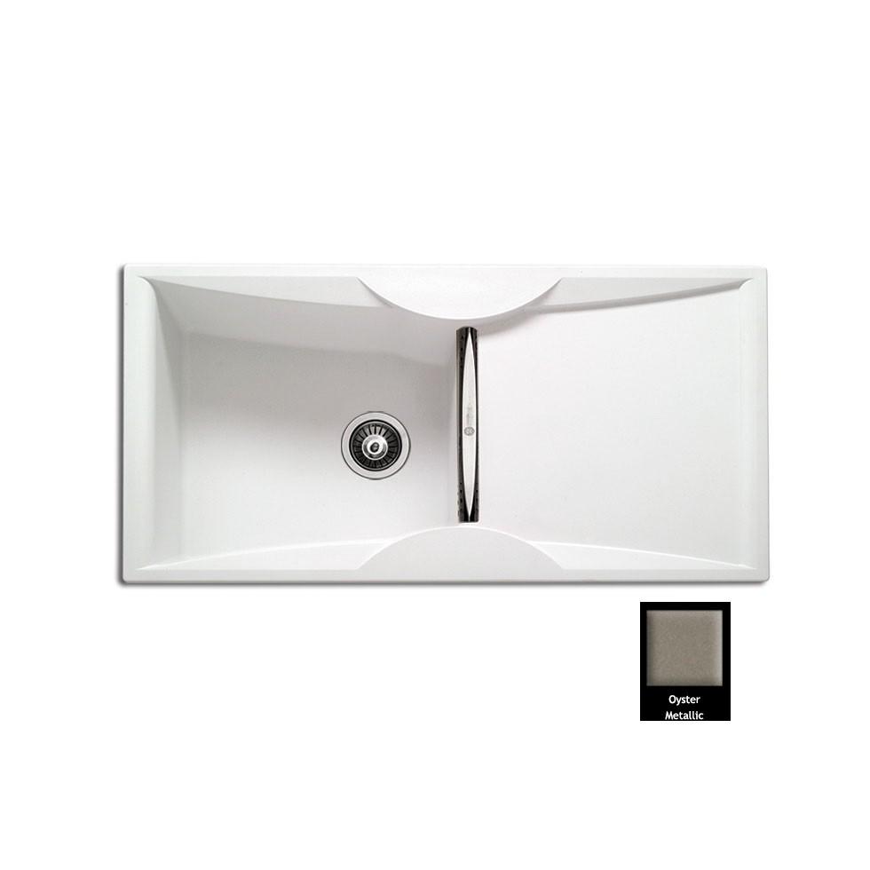 Carron ZX 3100 100x51,5cm Oyster Metallic Ένθετος Γρανιτένιος Νεροχύτης Με 1 Γούρνα