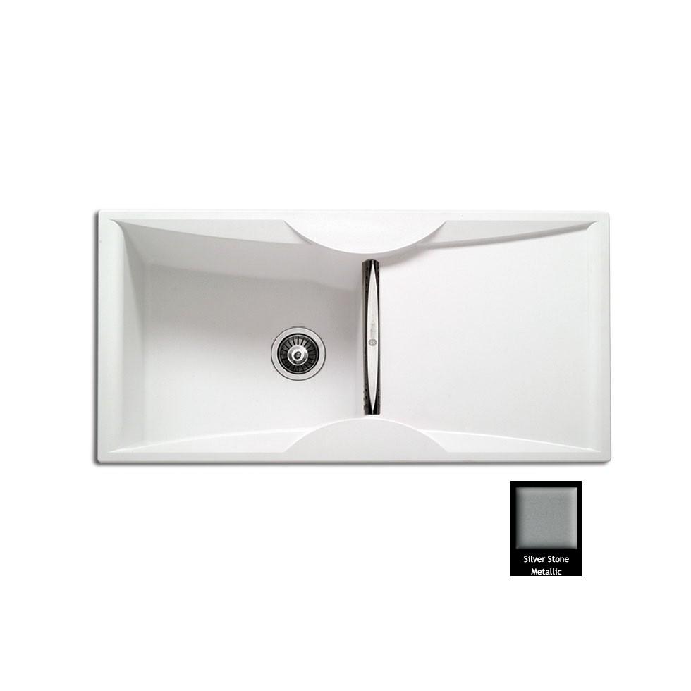 Carron ZX 3100 100x51,5cm Silver Stone Metallic Ένθετος Γρανιτένιος Νεροχύτης Με 1 Γούρνα