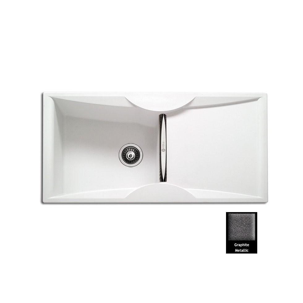 Carron ZX 3100 100x51,5cm Graphite Metallic Ένθετος Γρανιτένιος Νεροχύτης Με 1 Γούρνα