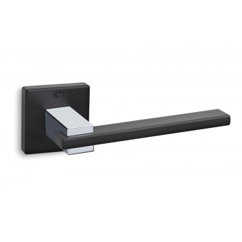 Convex 745 Ματ Μαύρο/Χρώμιο Πόμολο Πόρτας-Ροζέτα