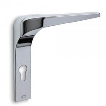 Convex 2055 Χρώμιο Πόμολο Πόρτας-Πλάκα