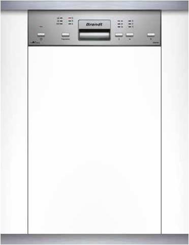 Brandt VS 1010X Εντοιχιζόμενο Πλυντήριο Πιάτων 45cm